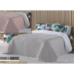 Bedspread Arola Gris 250x270 cm microfiber