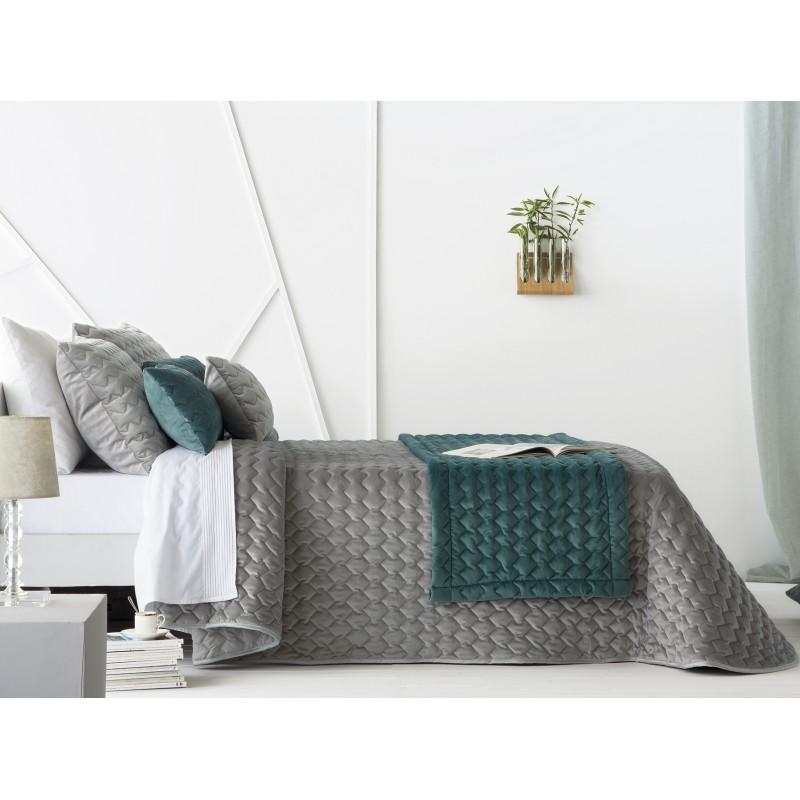 Bedspread Naroa Gris 235x270 cm