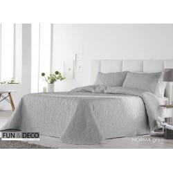 Bedspread Norma Gris 250x270 cm