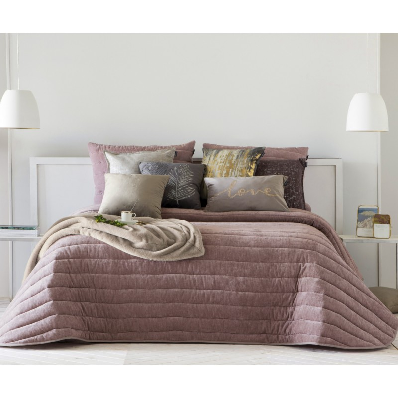 Bedspread Nantes Rose 250x270 cm