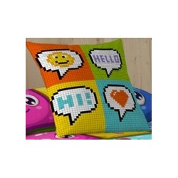 Pillowcases Hello 50x50 cm