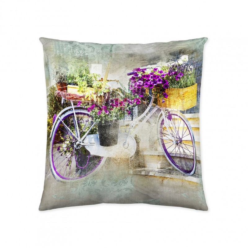 Pillowcase Garden Bike 50x50 cm